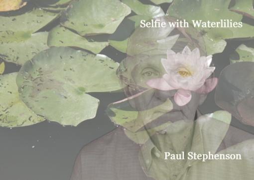 selfie 1 man and waterlily
